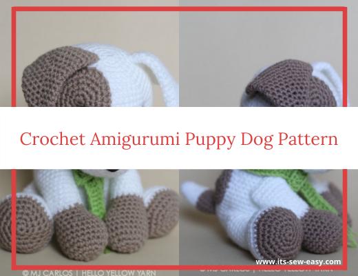 Scrappy the Happy Puppy Amigurumi Crochet Pattern | 400x520